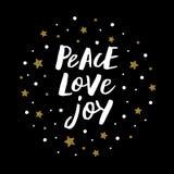 Χαρά αγάπης ειρήνης στοκ φωτογραφία