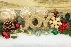 Χαρά Χριστουγέννων Στοκ εικόνα με δικαίωμα ελεύθερης χρήσης