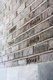 Χαραγμένος κινεζικός τοίχος της ημερομηνίας Στοκ Φωτογραφίες