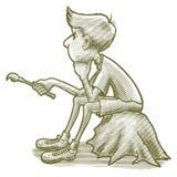Χαραγμένο σκεπτόμενο αγόρι Στοκ Εικόνα