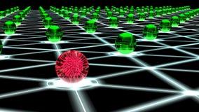Χαραγμένο hexagon δίκτυο της έννοιας cybersecurity κόμβων σφαιρών Στοκ εικόνες με δικαίωμα ελεύθερης χρήσης