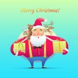 Χαρακτήρας Άγιος Βασίλης Διανυσματική απεικόνιση