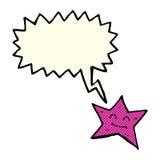 χαρακτήρας αστεριών κινούμενων σχεδίων με τη λεκτική φυσαλίδα Στοκ φωτογραφία με δικαίωμα ελεύθερης χρήσης