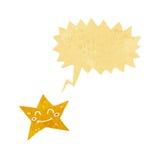 χαρακτήρας αστεριών κινούμενων σχεδίων με τη λεκτική φυσαλίδα Στοκ Εικόνα