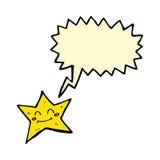 χαρακτήρας αστεριών κινούμενων σχεδίων με τη λεκτική φυσαλίδα Στοκ εικόνα με δικαίωμα ελεύθερης χρήσης