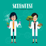 Χαρακτήρας επιστημόνων Στοκ Φωτογραφίες