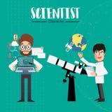 Χαρακτήρας επιστημόνων Στοκ Εικόνες