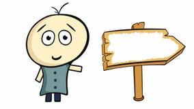Χαρακτήρας και κενό σημάδι ελεύθερη απεικόνιση δικαιώματος
