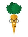 Χαρακτήρας καρότων με τα γυαλιά ελεύθερη απεικόνιση δικαιώματος