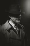 Χαρακτήρας κινηματογράφων Noir Στοκ Εικόνα