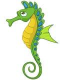 Χαρακτήρας κινουμένων σχεδίων Seahorse Στοκ Φωτογραφίες