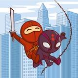 Χαρακτήρας κινουμένων σχεδίων Superheroes διανυσματική απεικόνιση