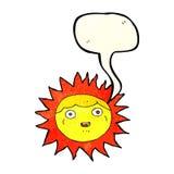 χαρακτήρας κινουμένων σχεδίων ήλιων με τη λεκτική φυσαλίδα Στοκ εικόνες με δικαίωμα ελεύθερης χρήσης