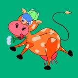 Χαρακτήρας κινουμένων σχεδίων αγελάδων Στοκ εικόνα με δικαίωμα ελεύθερης χρήσης