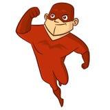 Χαρακτήρας κινουμένων σχεδίων ατόμων Superhero Στοκ φωτογραφία με δικαίωμα ελεύθερης χρήσης