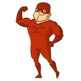 Χαρακτήρας κινουμένων σχεδίων ατόμων Superhero Στοκ φωτογραφίες με δικαίωμα ελεύθερης χρήσης