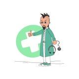 Χαρακτήρας κινουμένων σχεδίων γιατρών ελεύθερη απεικόνιση δικαιώματος