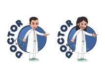Χαρακτήρας κινουμένων σχεδίων γιατρών απεικόνιση αποθεμάτων