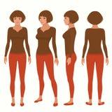 Χαρακτήρας κινουμένων σχεδίων γυναικών Στοκ Εικόνα