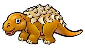 Χαρακτήρας κινουμένων σχεδίων δεινοσαύρων Ankylosaurus Στοκ Εικόνα