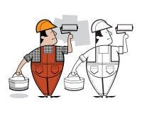 Χαρακτήρας κινουμένων σχεδίων ζωγράφων Στοκ εικόνα με δικαίωμα ελεύθερης χρήσης