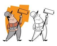 Χαρακτήρας κινουμένων σχεδίων ζωγράφων Στοκ φωτογραφίες με δικαίωμα ελεύθερης χρήσης