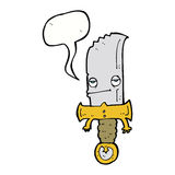 χαρακτήρας κινουμένων σχεδίων μαχαιριών με τη λεκτική φυσαλίδα Στοκ φωτογραφίες με δικαίωμα ελεύθερης χρήσης