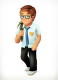 Χαρακτήρας κινουμένων σχεδίων μικρών παιδιών Στοκ φωτογραφία με δικαίωμα ελεύθερης χρήσης