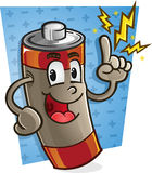 Χαρακτήρας κινουμένων σχεδίων μπαταριών Στοκ Εικόνες