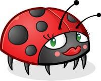 Χαρακτήρας κινουμένων σχεδίων Ladybug που φορά Makeup Στοκ φωτογραφίες με δικαίωμα ελεύθερης χρήσης