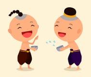 Χαρακτήρας κινουμένων σχεδίων Songkran 4 Στοκ εικόνες με δικαίωμα ελεύθερης χρήσης