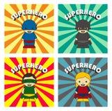 Χαρακτήρας κινουμένων σχεδίων Superhero ελεύθερη απεικόνιση δικαιώματος