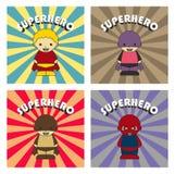 Χαρακτήρας κινουμένων σχεδίων Superhero διανυσματική απεικόνιση