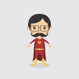 Χαρακτήρας κινουμένων σχεδίων Superhero απεικόνιση αποθεμάτων