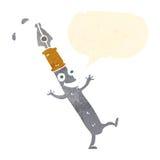 χαρακτήρας μανδρών κινούμενων σχεδίων με τη λεκτική φυσαλίδα Στοκ φωτογραφία με δικαίωμα ελεύθερης χρήσης