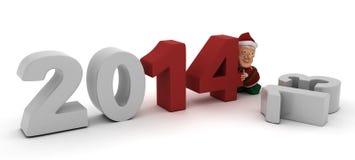 Χαρακτήρας νεραιδών που φέρνει στο νέο έτος Στοκ Εικόνες