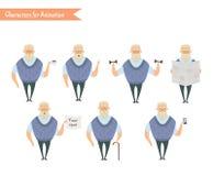 Χαρακτήρας παππούδων για τις σκηνές Στοκ εικόνα με δικαίωμα ελεύθερης χρήσης