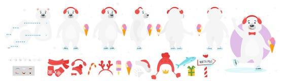 Χαρακτήρας πολικών αρκουδών για τη ζωτικότητα ελεύθερη απεικόνιση δικαιώματος