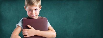 Χαρακτήρας πορτρέτου αστείος λίγο αγόρι μαθητών Στοκ Εικόνα