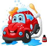 Χαρακτήρας πλυσίματος αυτοκινήτων κινούμενων σχεδίων Στοκ Εικόνα