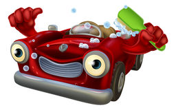 Χαρακτήρας πλυσίματος αυτοκινήτων Στοκ εικόνα με δικαίωμα ελεύθερης χρήσης