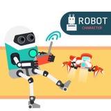 Χαρακτήρας ρομπότ Στοκ εικόνα με δικαίωμα ελεύθερης χρήσης