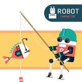 Χαρακτήρας ρομπότ Στοκ Εικόνα