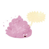 χαρακτήρας σύννεφων κινούμενων σχεδίων με τη λεκτική φυσαλίδα Στοκ Εικόνες