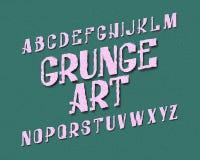 Χαρακτήρας τέχνης Grunge τύπος χαρακτήρων αστικός Απομονωμένο αγγλικό αλφάβητο Στοκ φωτογραφία με δικαίωμα ελεύθερης χρήσης