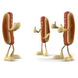 Χαρακτήρας τροφίμων - χοτ ντογκ ελεύθερη απεικόνιση δικαιώματος