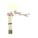 χαρακτήρας τσιγάρων κινούμενων σχεδίων με τη λεκτική φυσαλίδα Στοκ φωτογραφία με δικαίωμα ελεύθερης χρήσης