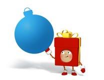 Χαρακτήρας Χριστουγέννων με το χαρτόνι μηνυμάτων Στοκ εικόνες με δικαίωμα ελεύθερης χρήσης