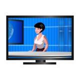 Χαρακτήρας Anchorwoman στη TV Στοκ φωτογραφίες με δικαίωμα ελεύθερης χρήσης