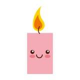 Χαρακτήρας kawaii αρώματος therapy candle spa διανυσματική απεικόνιση